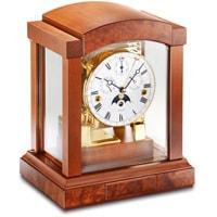 Mantel / Mantle / Table Clock - Kieninger 1242-41-02  Mantel Clock With Triple Chimes On An 8-Rod Gong And Multifunctional Dial In Cherry