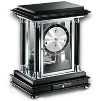 Mantel / Mantle / Table Clock - Kieninger 1246-82-02 ARTEMIS Classical Mantel Clock In Piano Black With Silver Dial
