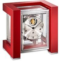 Mantel / Mantle / Table Clock - Kieninger 1266-77-04 50 Limited Edition TETRIKA DESIGN-CUBE With Triple Chimes And Tourbillon In Satin Red And Chrome