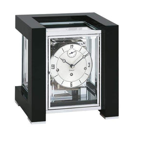 Mantel / Mantle / Table Clock - Kieninger 1266-96-03 500 Limited Edition TETRIKA DESIGN-CUBE With Triple Chimes In Black And Chrome
