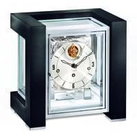 Mantel / Mantle / Table Clock - Kieninger 1266-96-04 Limited 100 Edition TETRIKA TOURBILLON DESIGN-CUBE, Black Piano Finish