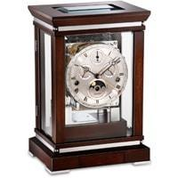 Mantel / Mantle / Table Clock - Kieninger 1267-22 -02 CHARLESTON Classic Mantel Clock With Triple Chimes, Calendar And A Moon Phase In Walnut