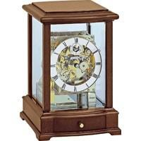 Kieninger 1268-23-01 Mechanical Mantel Clock, Triple Chimes, Open Dial, Walnut