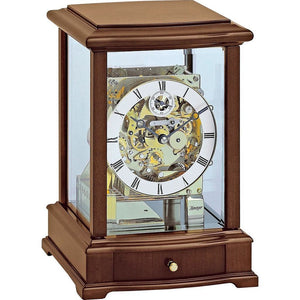 Mantel / Mantle / Table Clock - Kieninger 1268-23-01 Mechanical Mantel Clock, Triple Chime, Antique Walnut