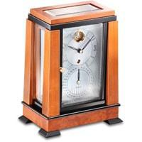 Kieninger 1272-41-01 Aida Art Deco Mantel Clock, Calendar, Visible Escapement, Cherry