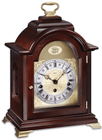 Mantel / Mantle / Table Clock - Kieninger 1275-23-01 Bracket Style Mantel Clock With Tempus Fugit Dial, Westminster Chimes And 8-Day Power Reserve In Walnut