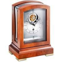 Mantel / Mantle / Table Clock - Kieninger 1277-46-01 PANORAMIKA Mantel Clock With Exclusive Tourbillon Movement, Yew Wood