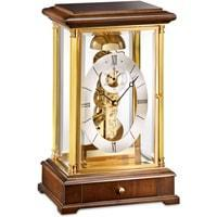 Kieninger 1278-23-01 Domino Skeleton Mantel Clock, Passing Bell Strike, Walnut