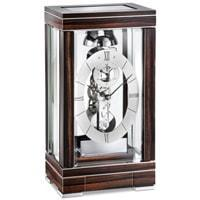 Kieninger Domino 1282-57-01 Skeleton Mantel Clock, Passing Bell Strike, Chrome & Ebony