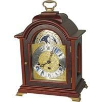 Mantel / Mantle / Table Clock - Kieninger 1286-23-01 Bracket Style Mantel Clock With Triple Chime And Moonphase In Walnut