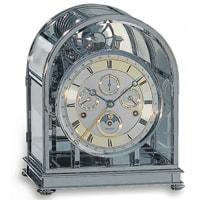 Kieninger Kupola 1709-02-02 500 Mantel Clock, 9 Bells, Chrome Plated Brass, Ltd 500