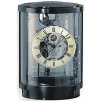 Kieninger Akuata 1711-96-02 Round Mantel Clock, Triple Chimes, 9 Bells, Black