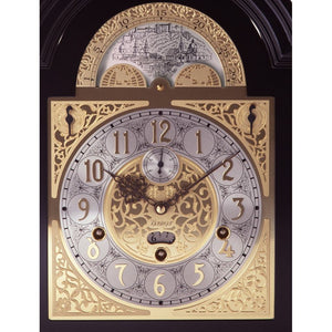 Mantel / Mantle / Table Clock - Kieninger 1756-23-01 MOZART MELODIES 250 Anniversary Edition With Nested Bell, Calendar And Moonphase In Walnut