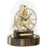 Kieninger Akkurano 1302-57-02 Miniature Mantel Clock with Glass Dome, Macassar Base