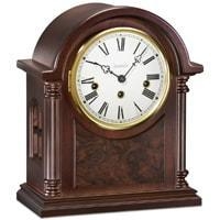 Mantel / Mantle / Table Clock - Kieninger Barrister 1287-23-01 Mantel Clock, Westminster Chimes, Walnut