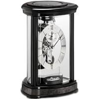 Kieninger Trigon 1289-96-01 Mantel Clock, Black Finish with Grey Veneer