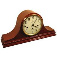Mantel / Mantle / Table Clock - Sternreiter Brahms MM 808 119 08 Mechanical Tambour Mantel Clock, 8-Day, Cherry