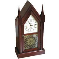 Mantel / Mantle / Table Clock - Sternreiter New Haven MM 808 381 08 Mechanical Tambour Mantel Clock, 8-Day, Cherry