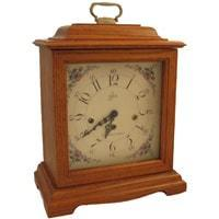 Mantel / Mantle / Table Clock - Sternreiter Sloan MM 808 373 04 Mechanical Tambour Mantel Clock, 8-Day, Oak