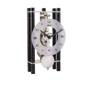 Modern Design Mantel Clocks - Hermle MIKAL Mechanical Mantel Clock 23021740721, Black / Silver Pendulum