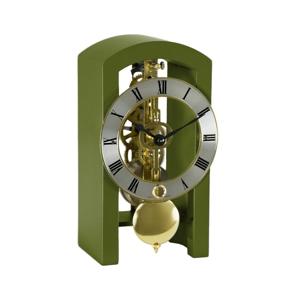 Hermle PATTERSON Mechanical Table Clock #23015DG0721, Dark Green