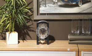 Modern Design Mantel Clocks - Hermle PATTERSON Mechanical Table Clock #23015DG0721, Dark Green