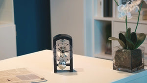 Modern Design Mantel Clocks - Hermle PATTERSON Mechanical Table Clock #23015S50721, Dark Green