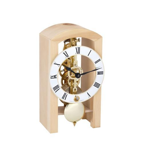 Hermle PATTERSON Mechanical Table Clock #23015T90721, Natural Pine
