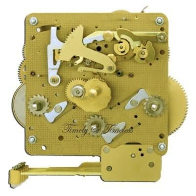 Hermle Clock Movement 341-021 Gearing 25, 33.5, 35, 38.5, 45cm