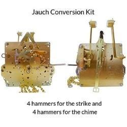 J-61 Jauch Conversion Movement Mechanism Kit for Jauch Grandfather nit Conversion to Hermle 451-053H.75 Westminster Chime