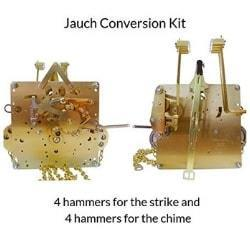 J-64 Jauch Conversion Movement Mechanism Kit for Jauch Grandfather - Unit Conversion to Hermle 451-050H.84 Westminster Chime