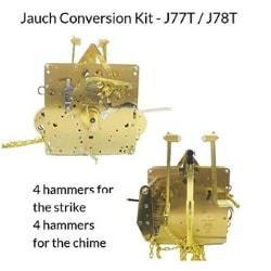 J-77T Jauch Conversion Movement Mechanism Kit for Jauch Grandfather - Unit Conversion to Hermle 1151-050.94cm Triple Chime