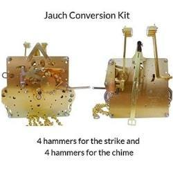 J-78 Jauch Conversion Movement Mechanism Kit for Jauch Grandfather - Unit Conversion to Hermle 451-053H.94 Westminster Chime