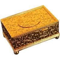 MMM Bird Box MU 214 110 00, Gold Case, Exquisite and Rare Music Box with Automated Bird