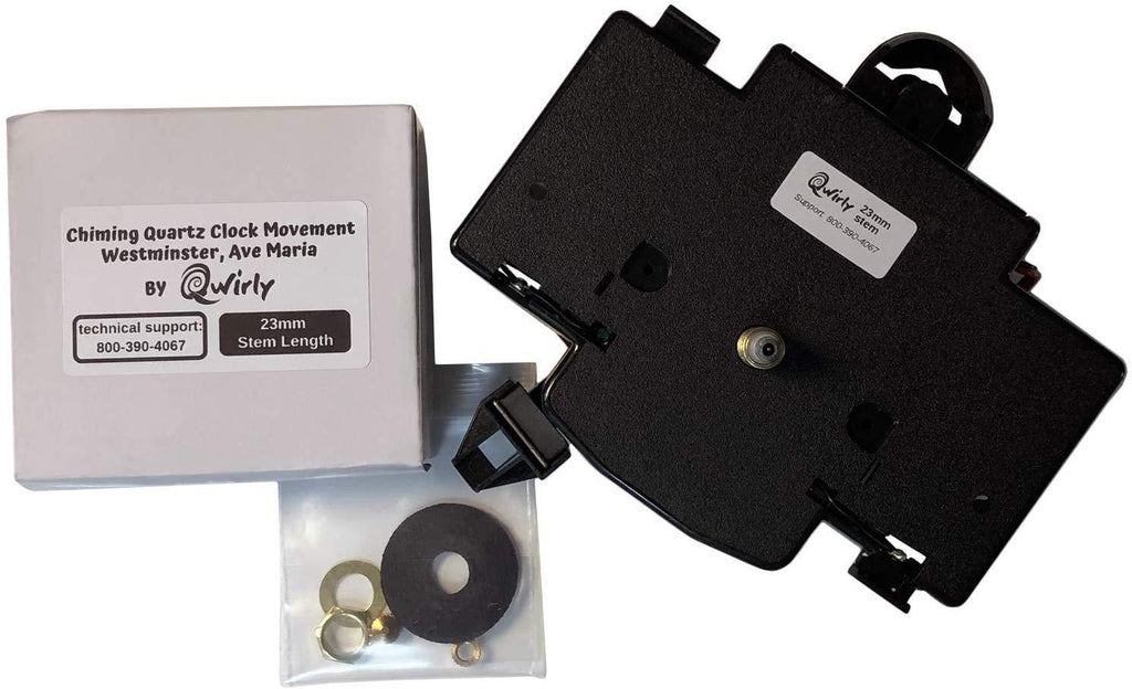 Quartz Clock Movement - Dual Chime Quartz Clock Movement MS0024, 18mm, Replaces Hermle 2114, 2115