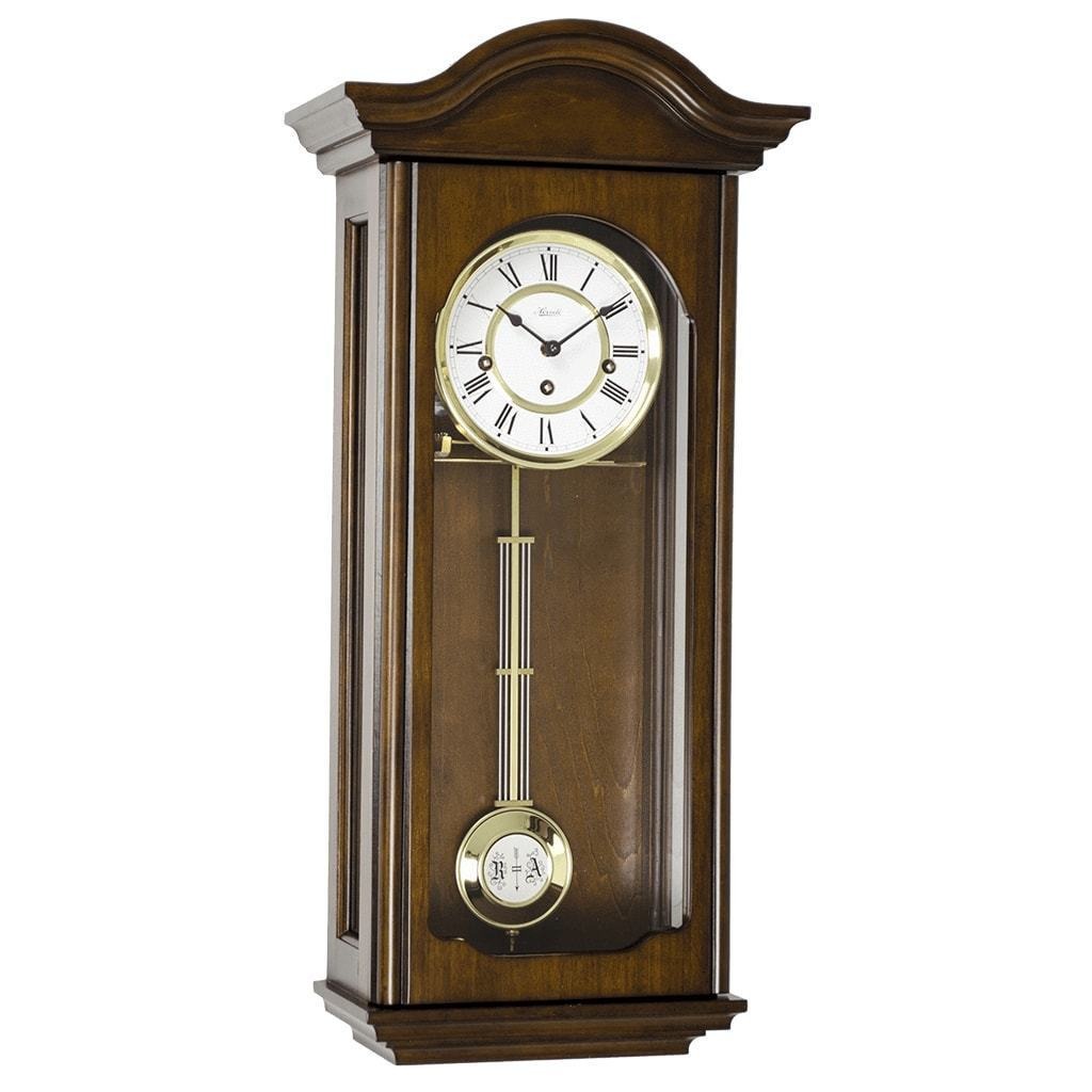 Regulator Clock - Hermle BROOKE Mechanical Regulator Wall Clock 70815Q341, Walnut