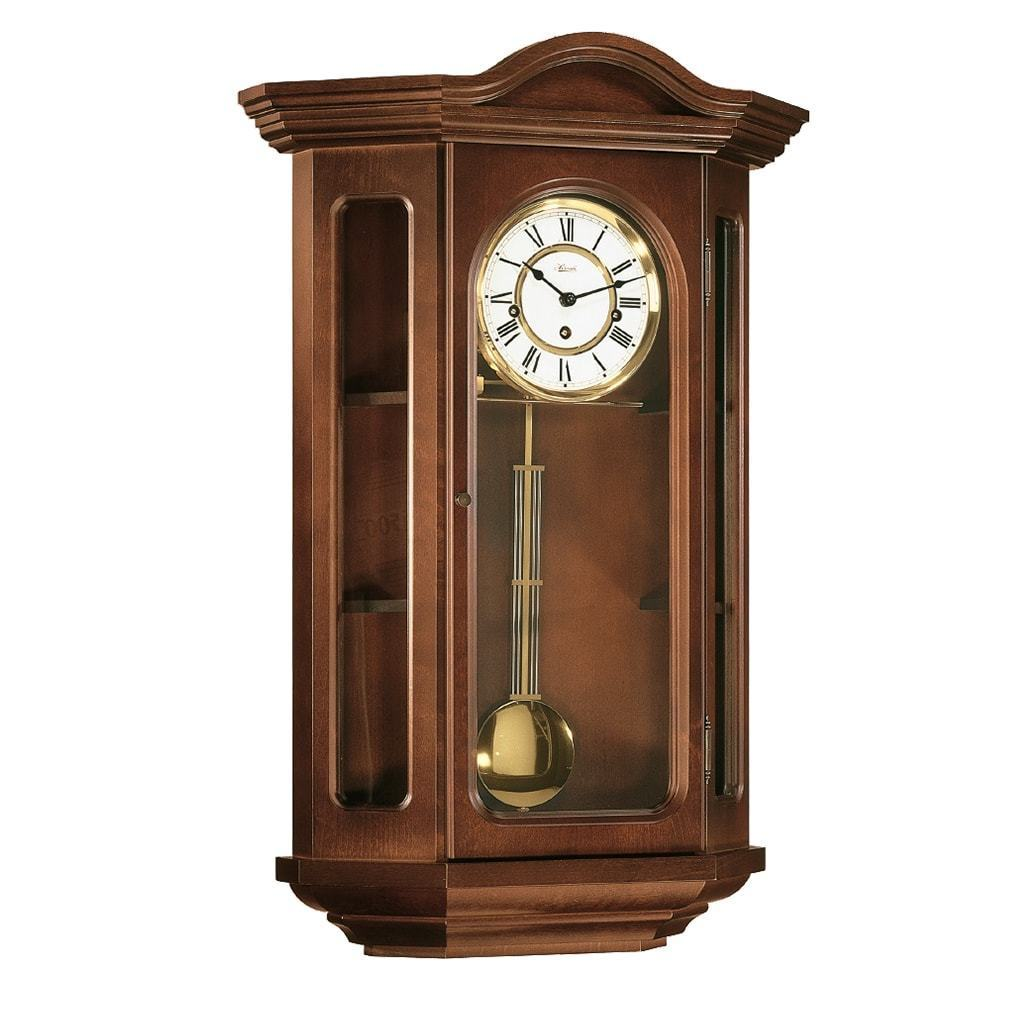 Regulator Clock - Hermle FAULKNER Mechanical Curio Wall Clock 70305N90341, Cherry