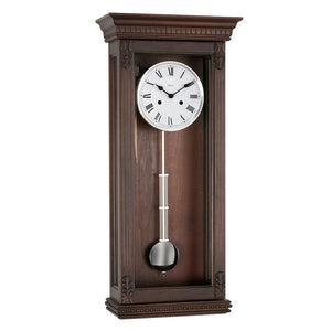 Regulator Clock - Hermle PEMBROKE Mechanical Regulator Wall Clock 70819Q10141, Walnut
