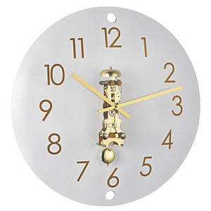 Wall Clock - Hermle AVA Mechanical Glass Wall Clock 30907000791, Brass