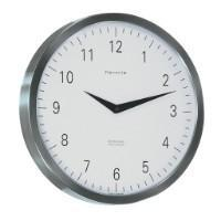 Wall Clock - Hermle METROPOLITAN Quartz Wall Clock 30466002100, Stainless Steel