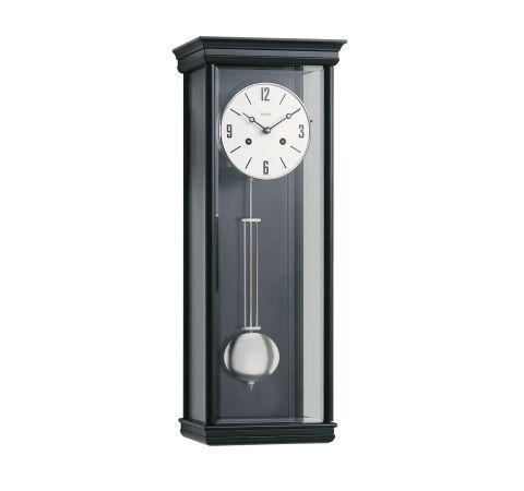 Kieninger 2632-96-01  Spring Wound Regulator Wall Clock, Black Spring-Wound, Black and Glass, Gong strike