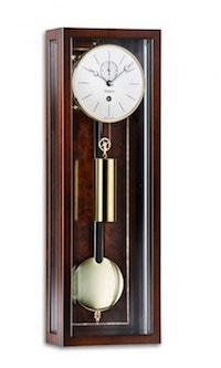 Wall Clock / Regulator - Kieninger  2806-22-01 Sophie Mini Regulator Wall Clock, Month Run, Walnut