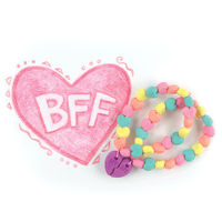 Drawn Heart with BFF eraser bracelets