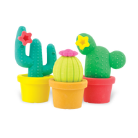 3 cactus eraser from the Prickly Pals Cactus Erasers set