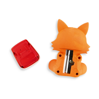 Back of Woodland Writing Pals Fox Eraser showing the sharpener