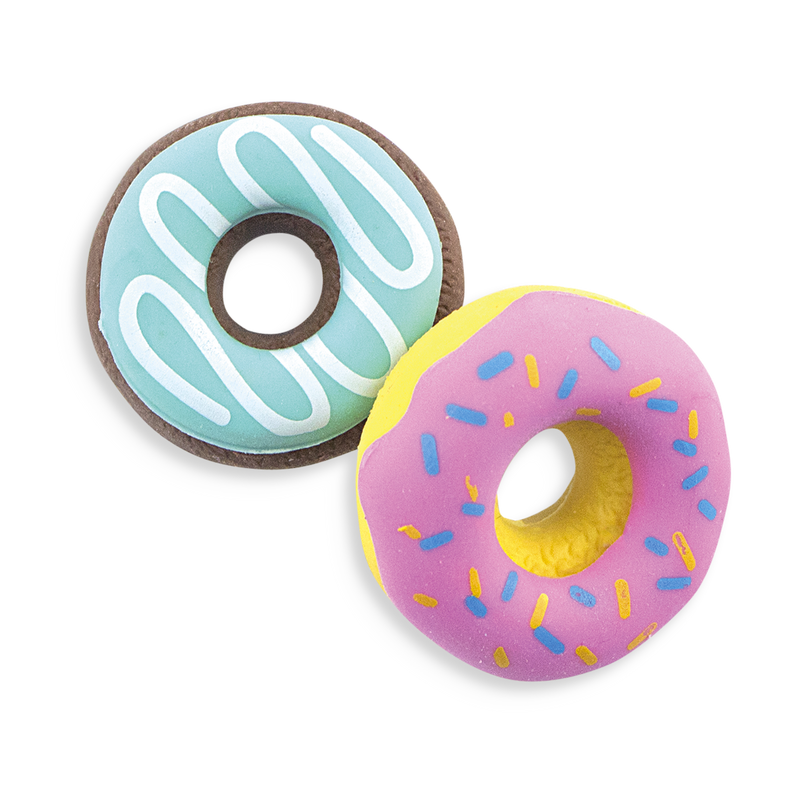 Pink and blue vanilla scented Dainty Donut pencil erasers