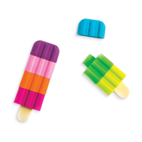 2 Icy Pop pencil erasers with mix and match colors