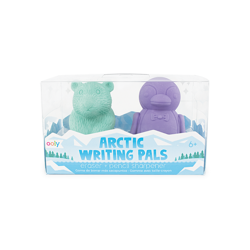Set of 2 Arctic Writing Pals erasers and pencil sharpeners