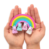 Hands cupping unique unicorns erasers
