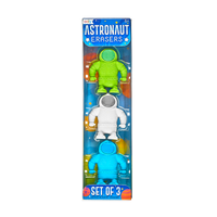 OOLY Astronaut set of 3 erasers in packaging